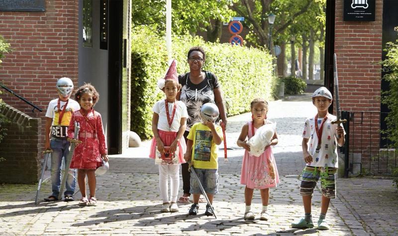 Kids in het kasteel - foto: Muiderslot