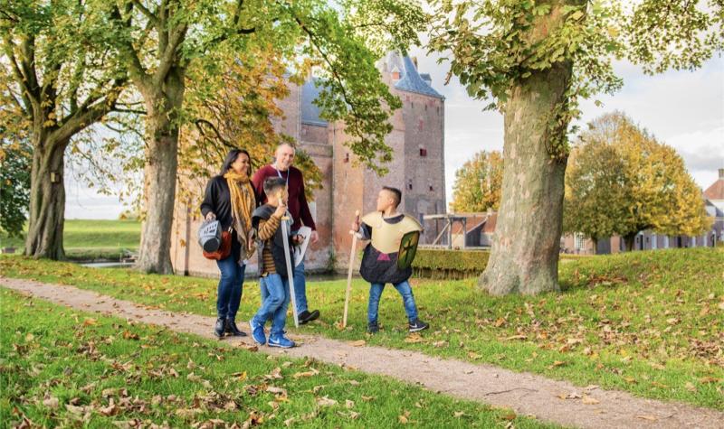 Slot Loevestein in de herfstvakantie
