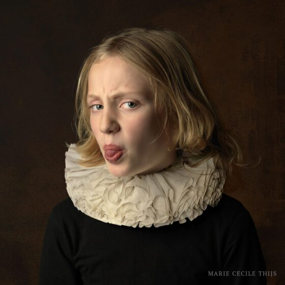 Girl with White Collar Tongue, copyright Marie Cecile Thijs.jpg
